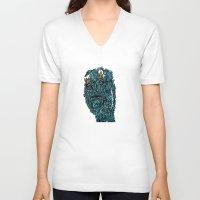 stone V-neck T-shirts featuring Stone by @Katbingart