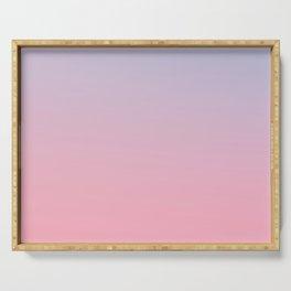 TRANSIENT FEELING - Minimal Plain Soft Mood Color Blend Prints Serving Tray