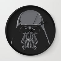 bane Wall Clocks featuring Darth Bane by Moysche Designs
