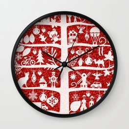CHRISTMAS TREE white ITINERANT Wall Clock