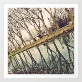 Mirror Mirror on the water Art Print