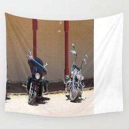 Motorcycle Parade Wall Tapestry
