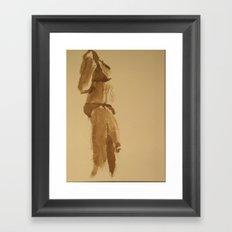 Shy Bikini Framed Art Print