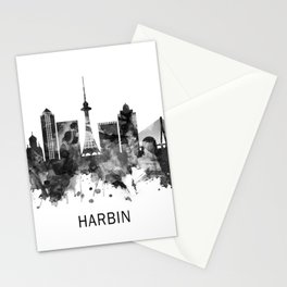 Harbin China Skyline BW Stationery Cards