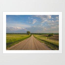 Country Road, North Dakota 1 Art Print