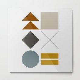 Mid West Geometric 03 Metal Print