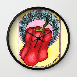 Art nouveau. Pepper. Wall Clock