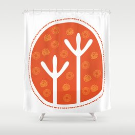 Emu Tracks Australian Aboriginal Style 1 Shower Curtain