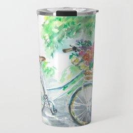 White Bike Travel Mug