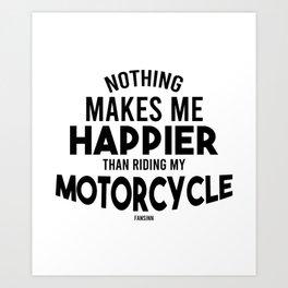 Motorcyclist biker motorcycle gift Art Print