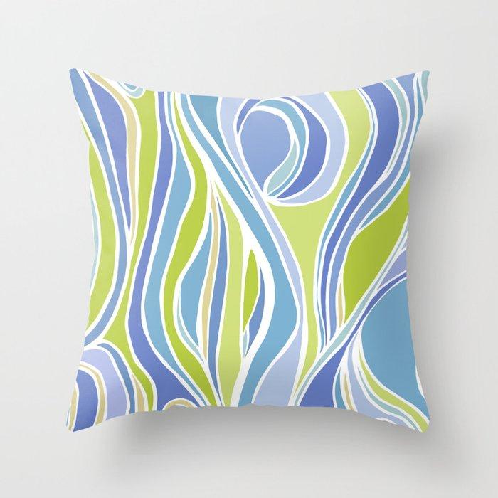 Absinthe Abstract Throw Pillow