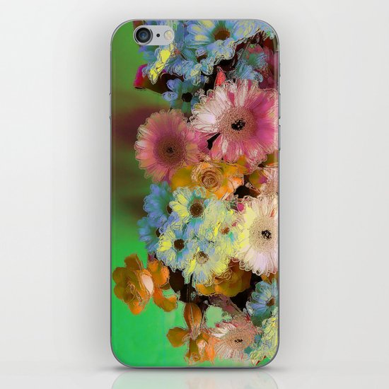 Floral Grunge iPhone & iPod Skin