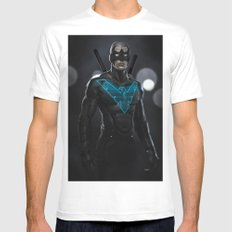 Nightwing 02 SMALL Mens Fitted Tee White