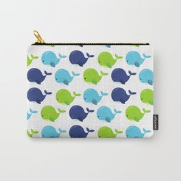 Pattern Of Whales, Cute Whales, Sea Animals Carry-All Pouch