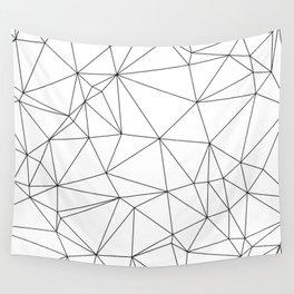Black and White Geometric Minimalist Pattern Wall Tapestry