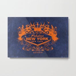 Sin City (Orange/Blue) Metal Print