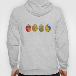 ColorfulPainted Easter Eggs Pascha Holiday Graphic Hoody