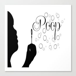 Poop Bubbles Canvas Print