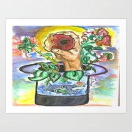 Magical Apple Watercolor Painting Art Print