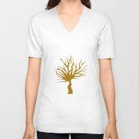 tree of life V-neck T-shirts featuring Life tree by Meldon_Mahtar