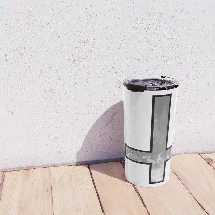Inverted cross - Smoke Travel Mug