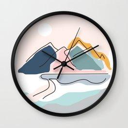 Minimalistic Landscape Wall Clock