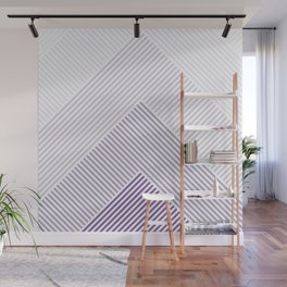 Shades of Purple Abstract geometric pattern Wall Mural