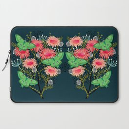 Luna Moth Florals by Andrea Lauren  Laptop Sleeve