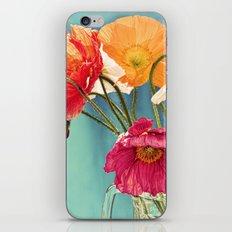 Bright Dancers - Vintage toned poppy flower still life iPhone & iPod Skin