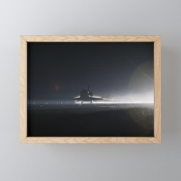 Atlantis nears touchdown for the final time on Runway 15 at the Shuttle Landing Facility at NASAs Ke Framed Mini Art Print
