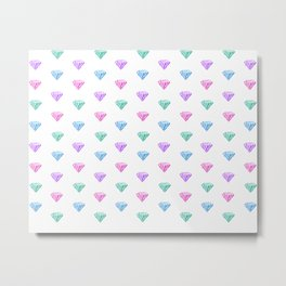 multicolored diamonds Metal Print