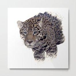 Digital Painting of  leopard portrait Metal Print