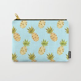 Blue Tropical Pineapple Pattern Carry-All Pouch