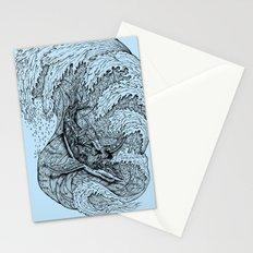 i only surf on SHARKS! Stationery Cards