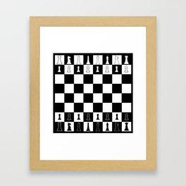 Chess Board Layout Framed Art Print