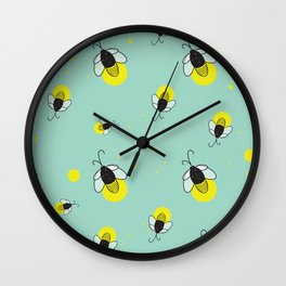 Lightnin' Bugs Wall Clock