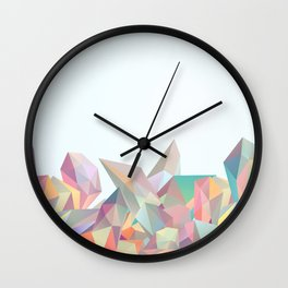 Crystallized II Wall Clock