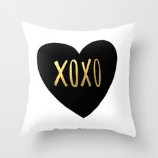 XOXO x Gold Throw Pillow