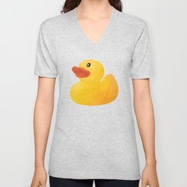 Rubber Duck polygon art Unisex V-Neck