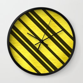 Gold Collection K12 - Diagonal Stripes Wall Clock