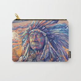native american portrait-red cloud Carry-All Pouch