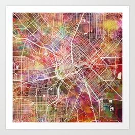 Dallas map 2 Art Print