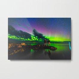 The dancing lights.  |  Tobermory, Ontario Metal Print