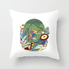 Tarzana and John Throw Pillow