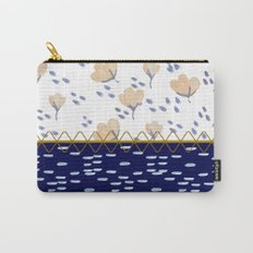 Stitched poppies Carry-All Pouch