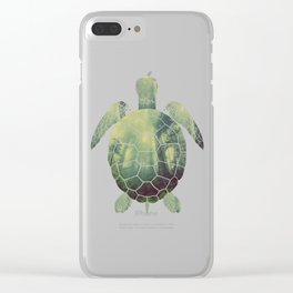 forest turtle Clear iPhone Case