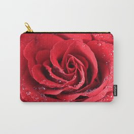 Red Swirl Rose Carry-All Pouch