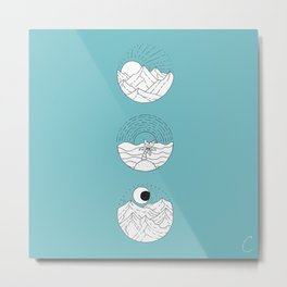 Trio of Landscapes Design Metal Print