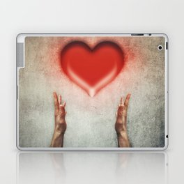 heart holding Laptop & iPad Skin