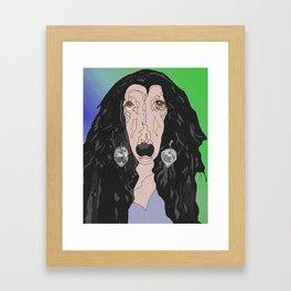 If I Could Turn Back, Dr Bear's Doggie Pop Art of Sher Framed Art Print